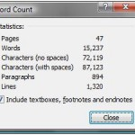 """Official"" word count"