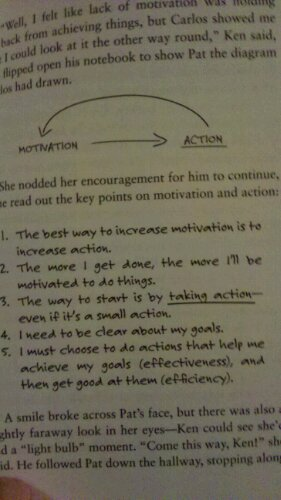 motivation and action-the chicken or the egg?
