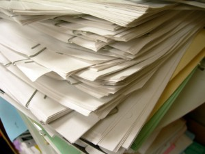 stack of job applications
