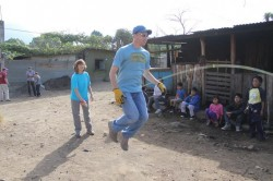 Playing with kids in the squatter's area