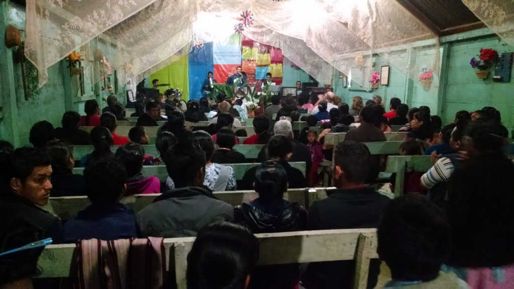 The church was packed every night. Standing room only in the back.