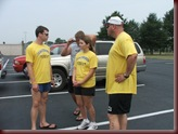 My dad, wife, and brother at a triathlon