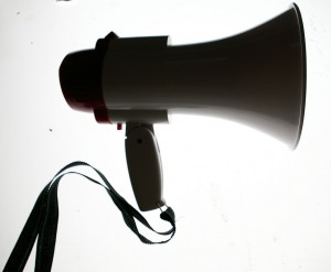megaphone shout out