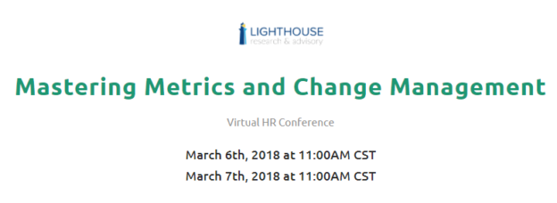 Mini Virtual HR Conference: HR Metrics And Change Management (2 Free  Business Credits)