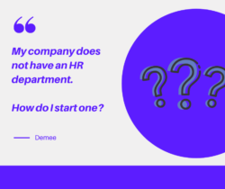 how do I start an hr department at my company